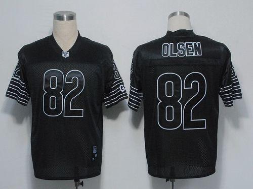 Bears #82 Greg Olsen Black Shadow Stitched NFL Jersey | BestJersey.cc