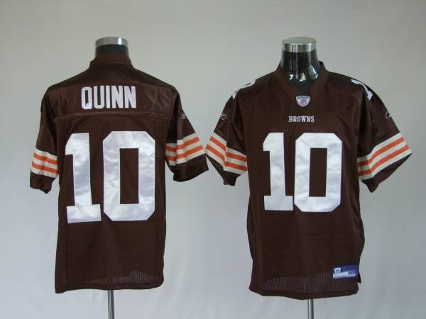 Browns #10 Brady Quinn Brown Stitched NFL Jersey | BestJersey.cc