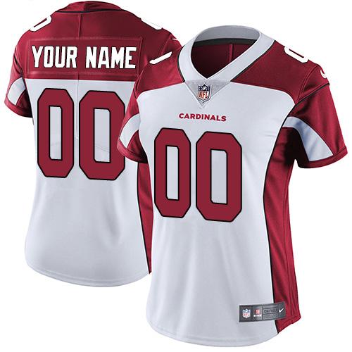 Nike Arizona Cardinals Customized White Stitched Vapor Untouchable Limited Women's NFL Jersey