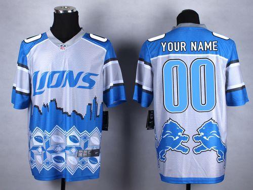 detroit lions custom jersey