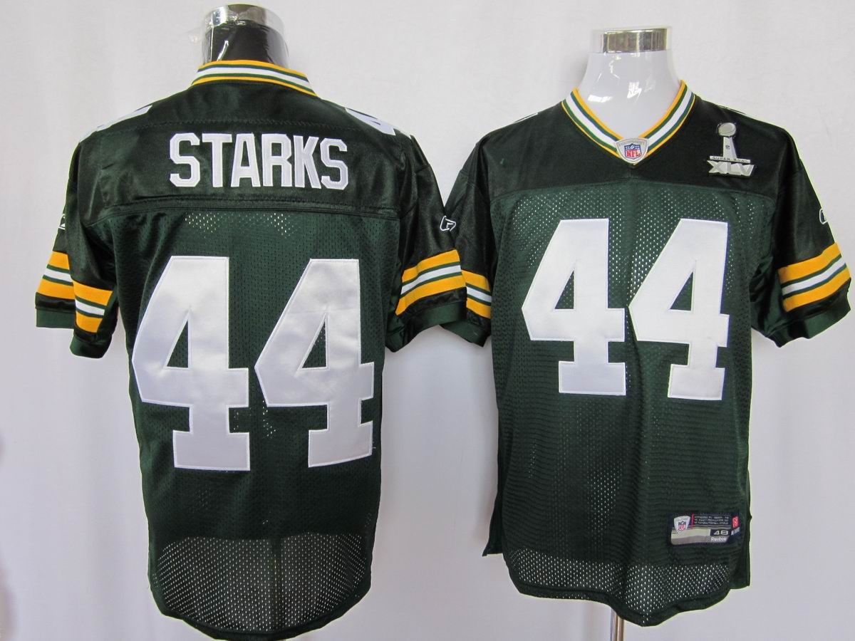 Packers #44 James Starks Green Super Bowl XLV Embroidered NFL ...