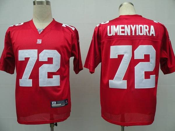 Giants #72 Osi Umenyiora Red Stitched NFL Jersey