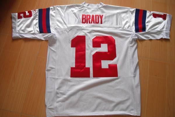 Patriots #12 Tom Brady White With AFL 50 Anniversary Patch Stitched NFL Jersey