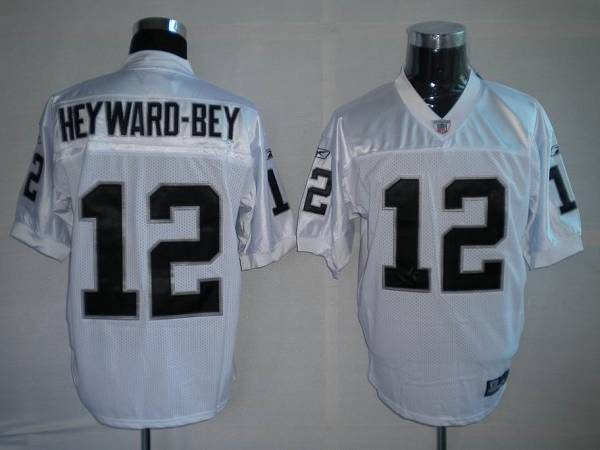 Raiders Darrius Heyward-Bey #12 Stitched White NFL Jersey ...